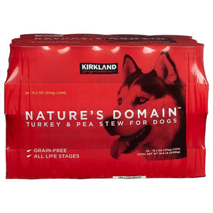 Kirkland Signature Nature's Domain Turkey & Pea Stew, 24 x 13.2 oz