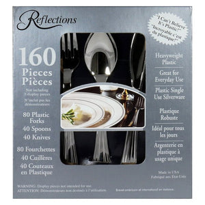 Reflections Plastic Cutlery, 160 ct