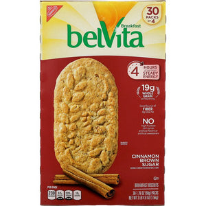 Belvita Breakfast Biscuit Cinnamon Brown Sugar, 30 x 1.76 oz