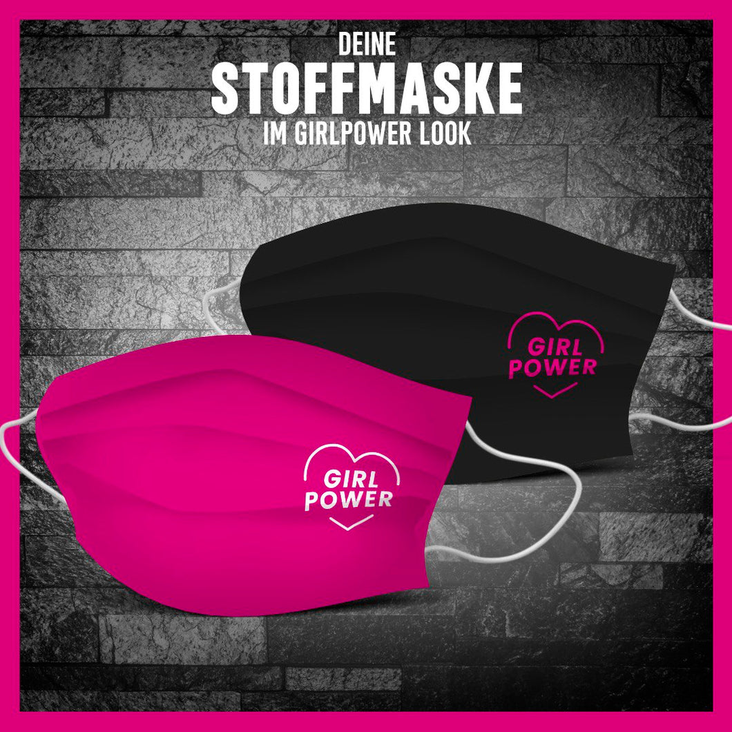2x Girl Power Stoffmasken-Bundle