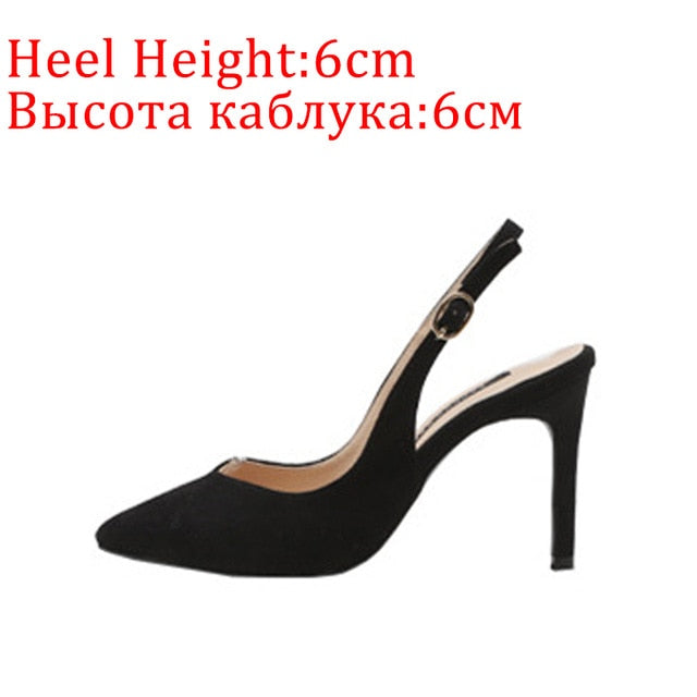 Women High Heels Summer Sexy Leopard Print Pointed Female Pumps Fashion Brand Thin Heel Buckle Ladies Shoes Plus Size 2020 New