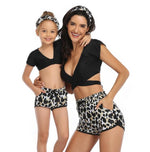 Load image into Gallery viewer, 2020 New Leopard Print Family Matching Mother Daughter Swimsuits