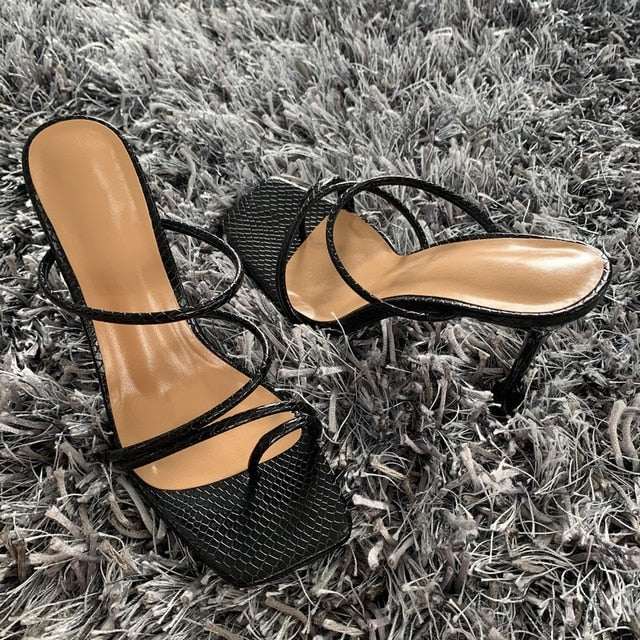 2020 Summer Pumps New Sexy Gladiator Sandals Shoes Women Thin High Heels Open Toe Sandal Lady Ankle Strap Pump Shoes Size 35-42