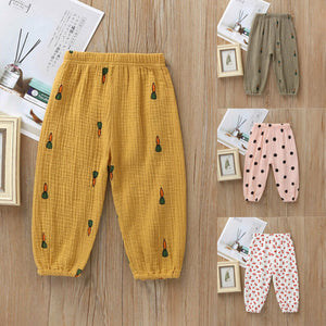 Casual  Kids Baby Girls Boys Pants Toddler Baby Kids Long Pants Trousers Leggings Harem Bottoms Cherry Print Pant
