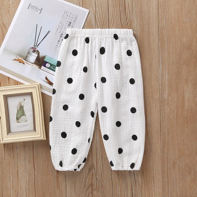 5Colors Kids Baby Clothing Pants Toddler Baby Boy Girl Long Pant Trouser Leggings Sweatpants Harem Bottoms Dot Cherry Print Pant
