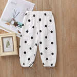 Load image into Gallery viewer, 5Colors Kids Baby Clothing Pants Toddler Baby Boy Girl Long Pant Trouser Leggings Sweatpants Harem Bottoms Dot Cherry Print Pant