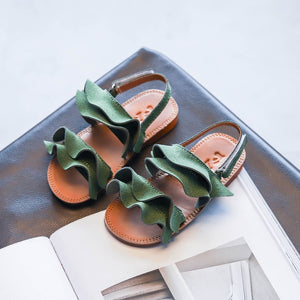 KushyShoo Korean Ruffles Princess Sandals
