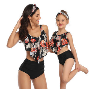 Matching Swimwear Mother n Daughter Swimsuit