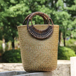 Load image into Gallery viewer, Woven Dark Beauty Beach Bag