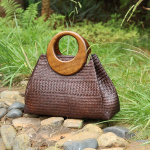 Woven Dark Beauty Beach Bag