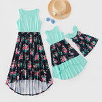 Load image into Gallery viewer, Mom And Daughter Dresses Floral Mother Daughter Dress Baby Girl Romper 2020 Summer Mommy And Me Clothes Family Matching Outfit