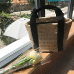 Load image into Gallery viewer, Handmade Woven Basket Bolsa Tote Luxury Brand Canvas