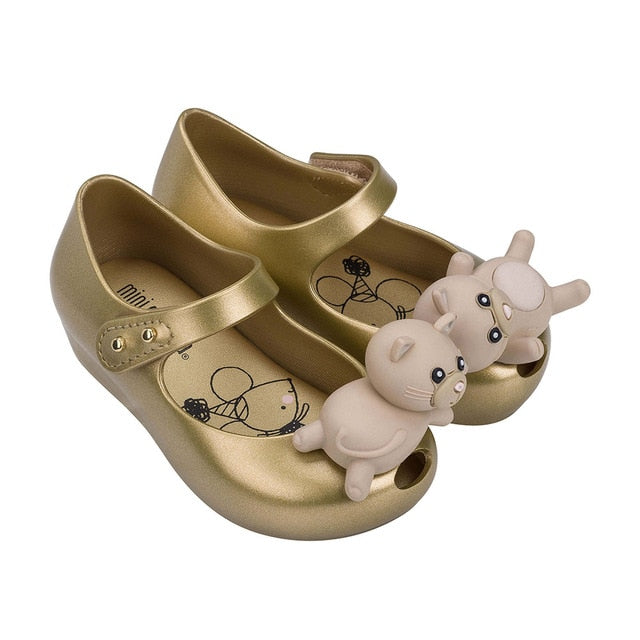 Mini Melissa Cat Girl Jelly Shoes 2020 New Summer Shoes Melissa Sandals Kids Sandals Girls Toddler Zandalias Girls Sandals
