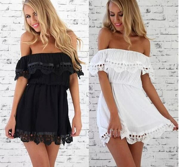 Lace Casual Sexy Mini Evening Above Knee SummerDress