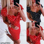 Load image into Gallery viewer, Boho Undefined Summer Dress Polka Dot