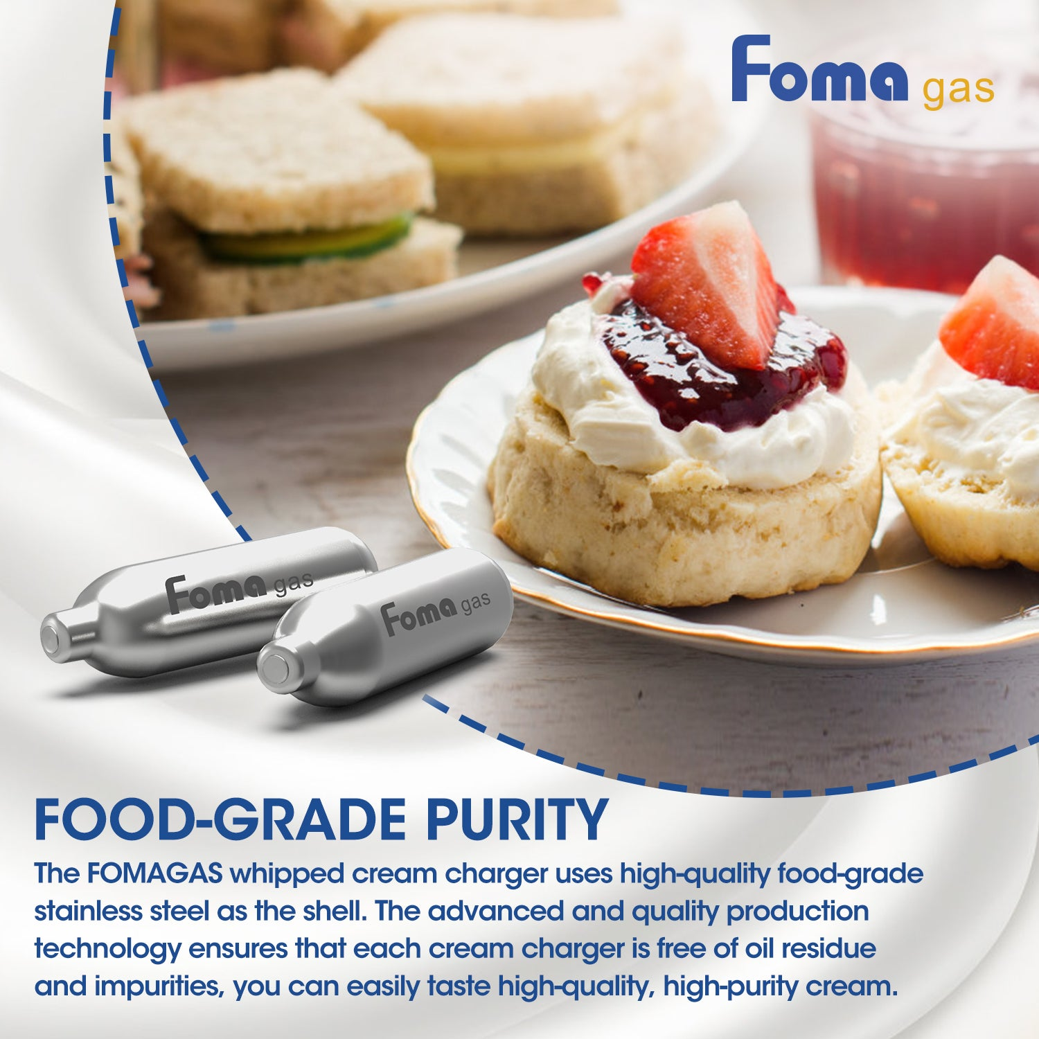 FomaGas 8g N2O Whipped Cream Chargers 48 Packs