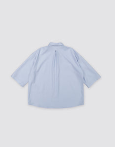 OVERSIZED WOOL BLOUSE (PASTEL BLUE)