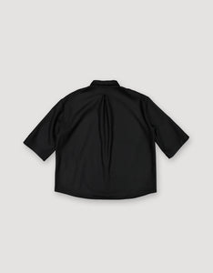 OVERSIZED WOOL BLOUSE (BLACK)
