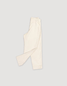 CORDUROY TAPERED TROUSERS (NATURAL WHITE)