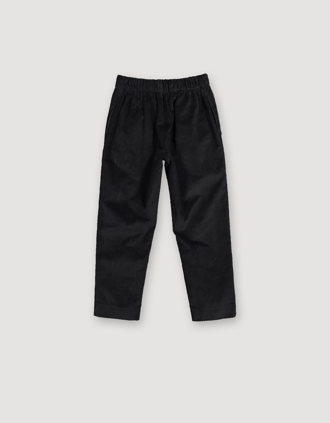 CORDUROY TAPERED TROUSERS (BLACK)