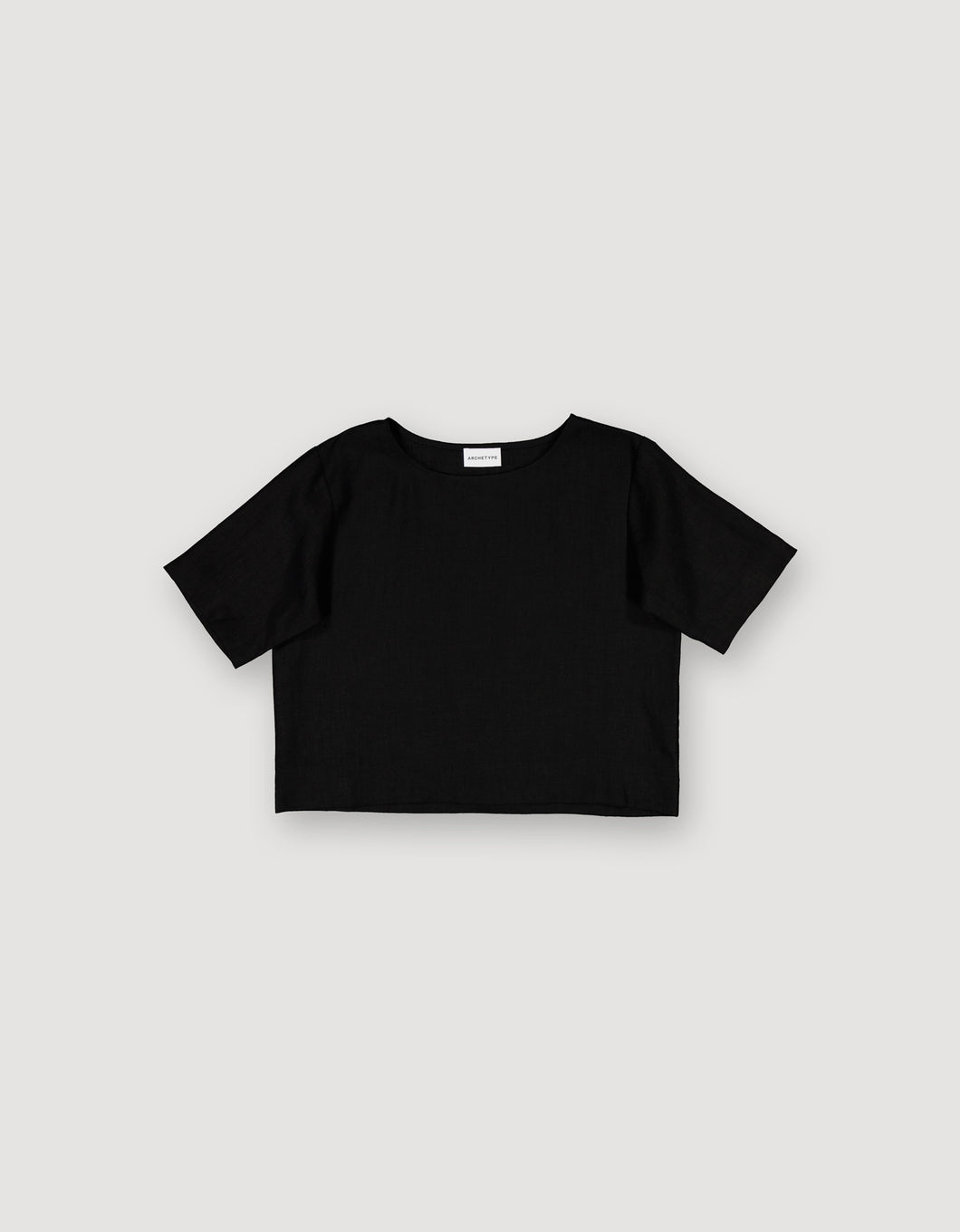 CROPPED SHIRT (BLACK)