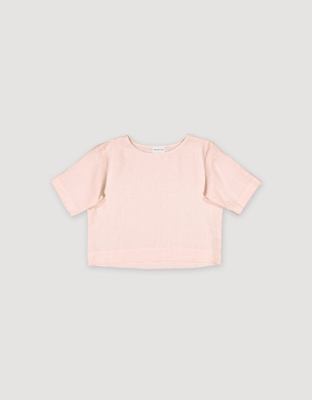 CROPPED SHIRT (FADED PINK)