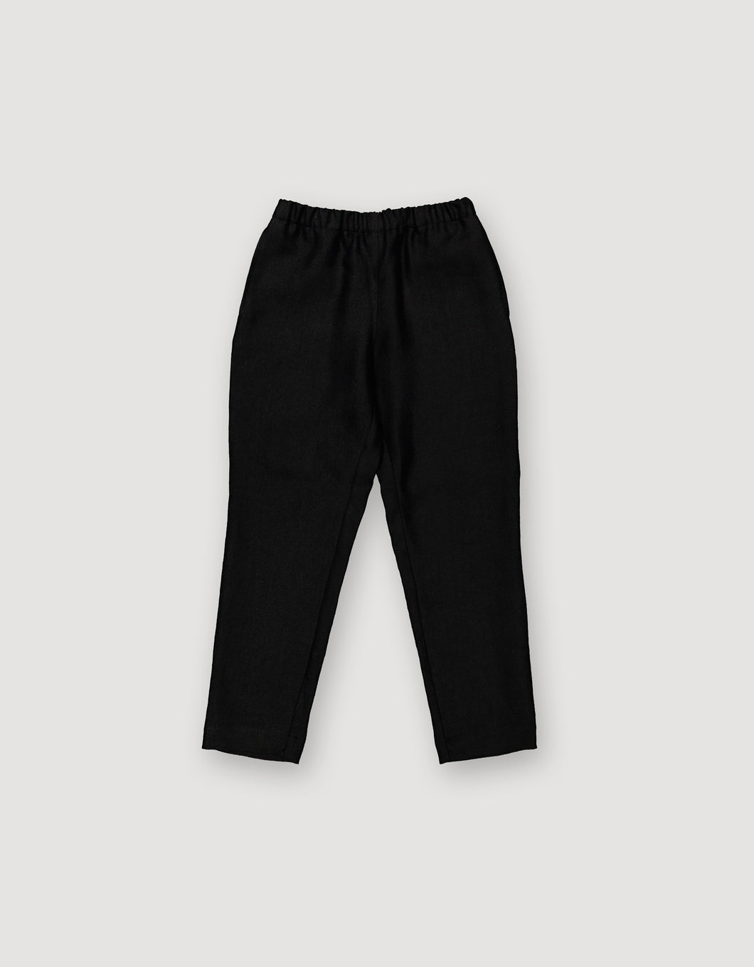 TAPERED LEG TROUSERS (BLACK)