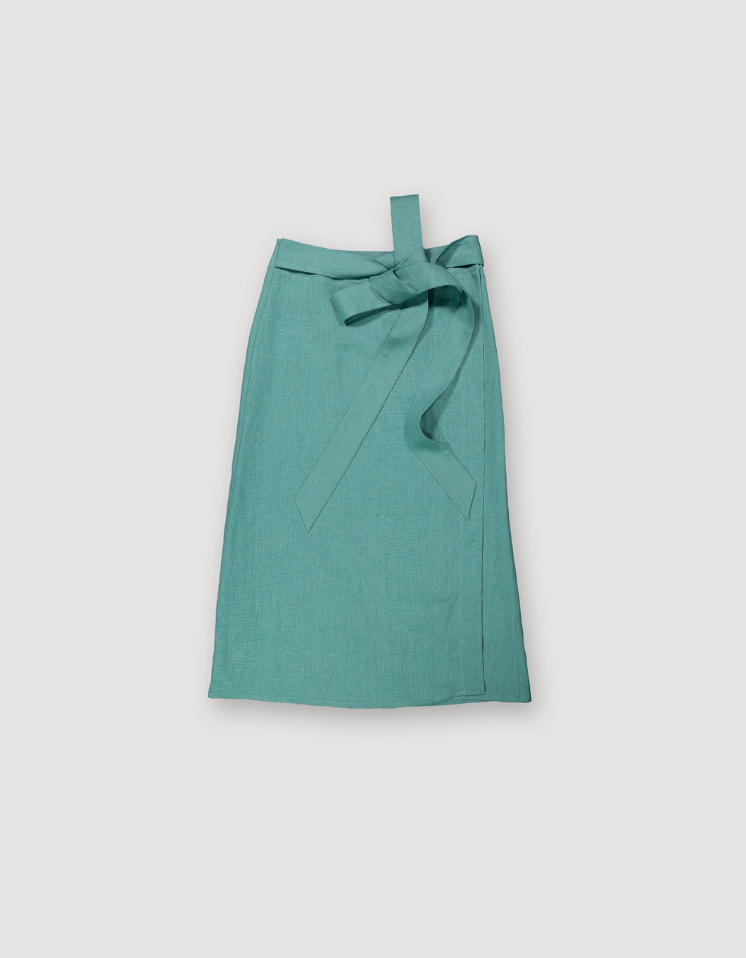 WRAP SKIRT (LIGHT TURQUOISE)