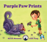 JLB Paw Prints Series: Purple Paw Prints