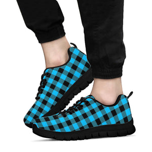 Buffalo Plaid Blue Print Sneakers