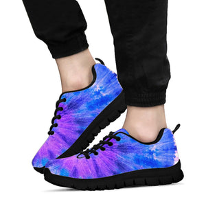 Purple And Blue Tie Dye Sneakers