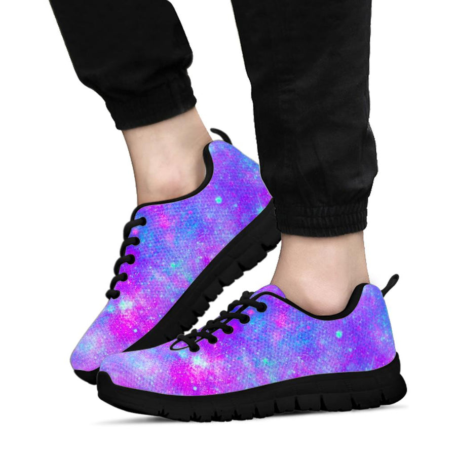 Blue And Pink Galaxy Space Sneakers