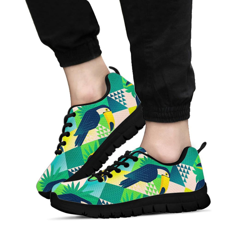 Patchwork  Tropical Toucan Print Sneakers