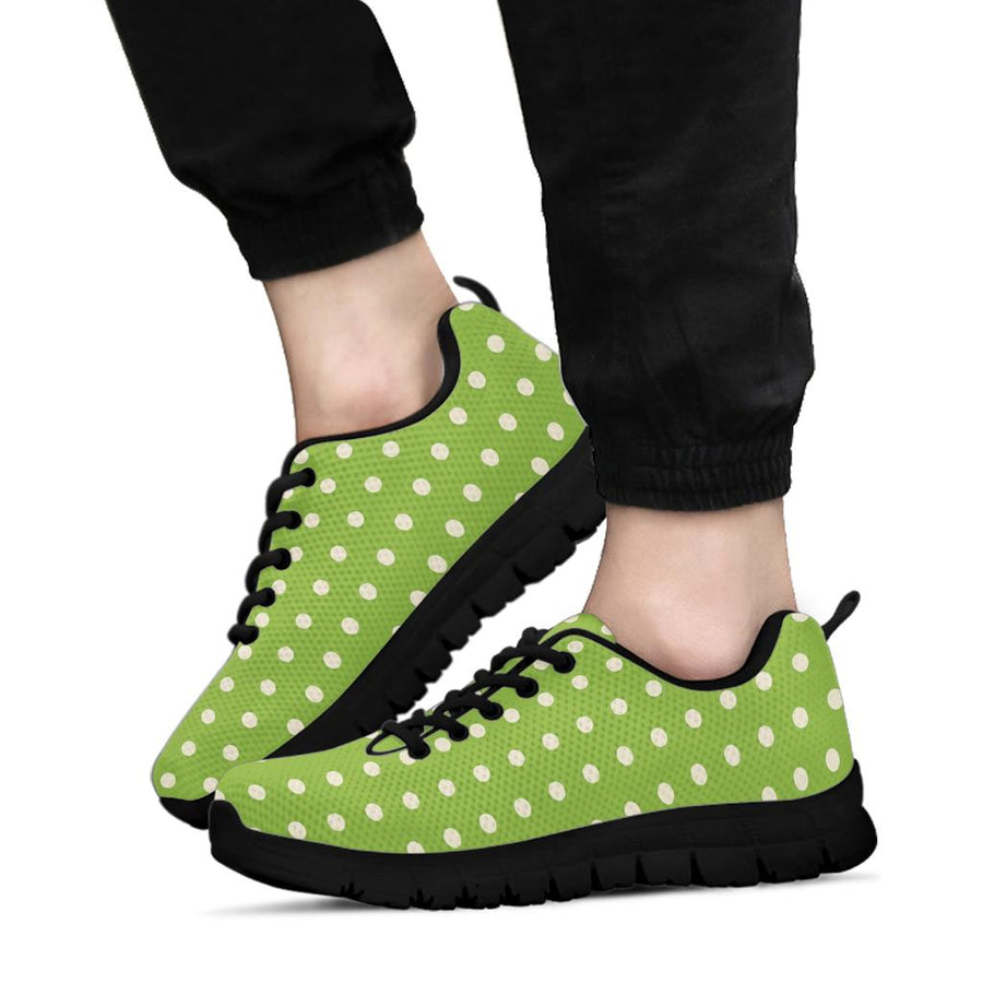 Green And White Polka Dot Sneakers