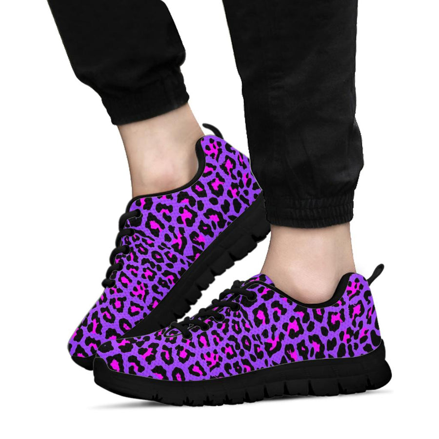 Purple Leopard Sneakers