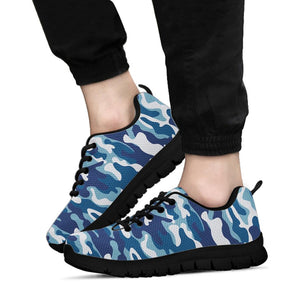 Blue Navy Camo Print Sneakers