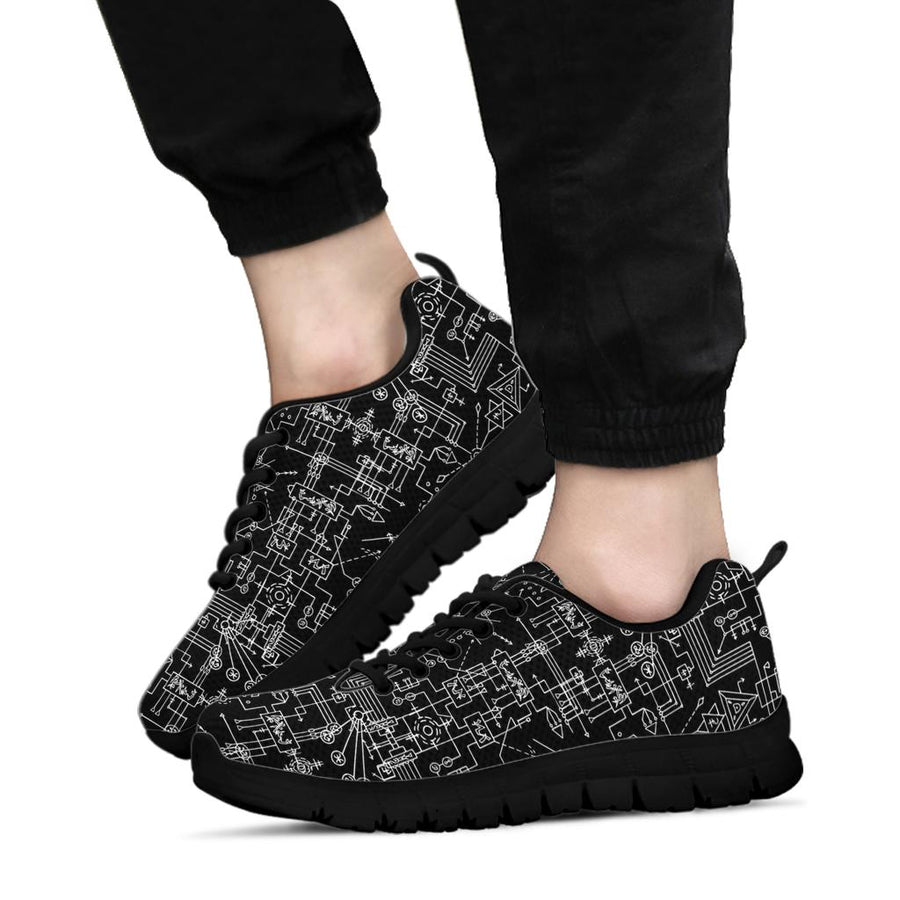 Witch Symbol Gothic Sneakers