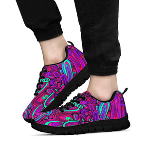 Psychedelic Trippy Doodle Sneakers