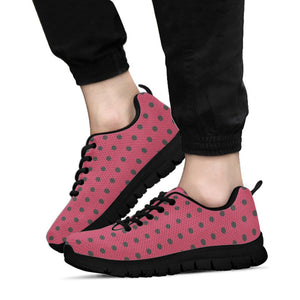 Vintage Black And Pink Tiny Polka Dot Sneakers