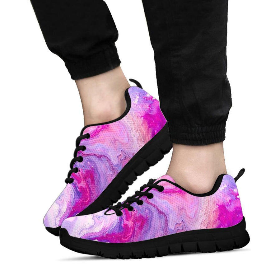 Purple Marble Sneakers