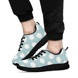 Aqua Polka Dot Sneakers