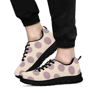 Cream And Brown Polka Dot Sneakers