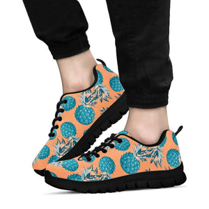 Hawaiian Neon Pineapple Print Sneakers