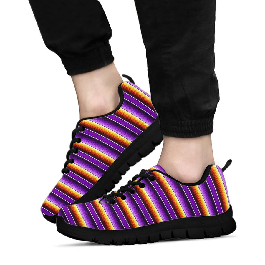 Yellow And Purple Mexican Baja Sneakers