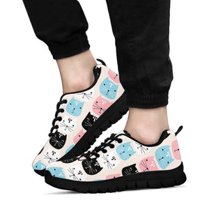 Cute Cat Face Print Sneakers