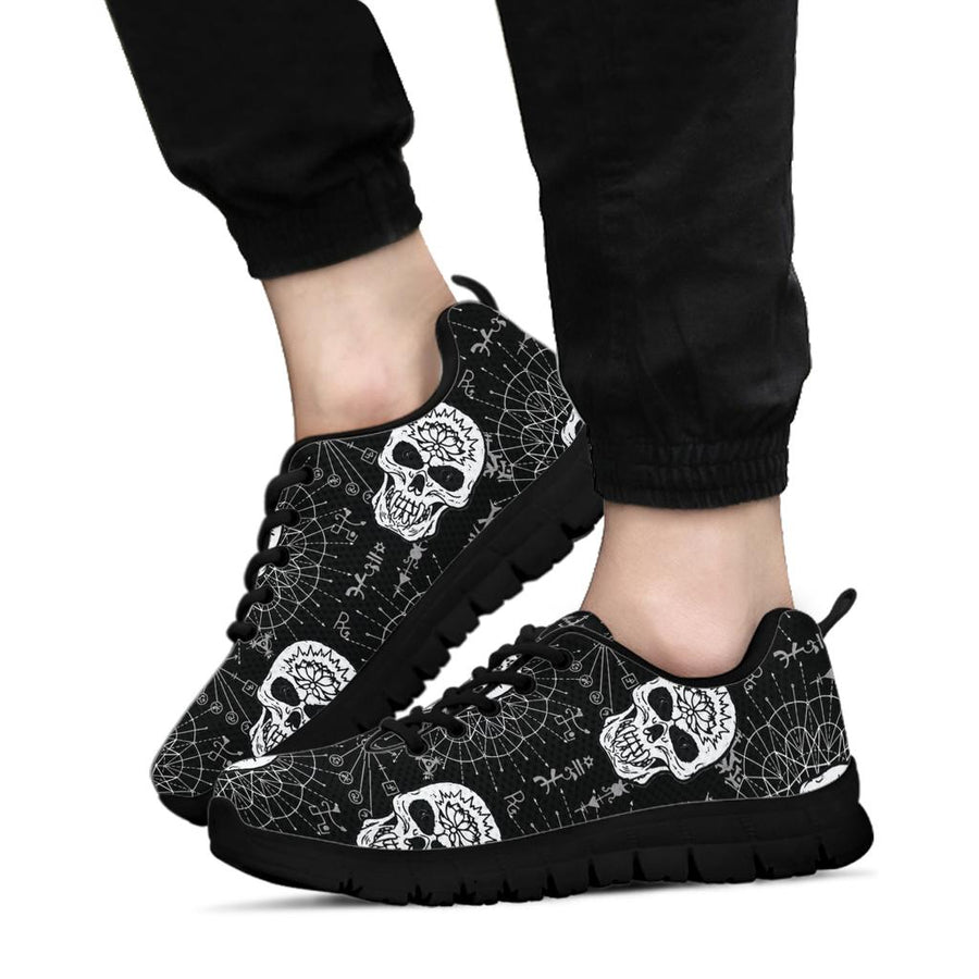 Skull Gothic Witch Sneakers