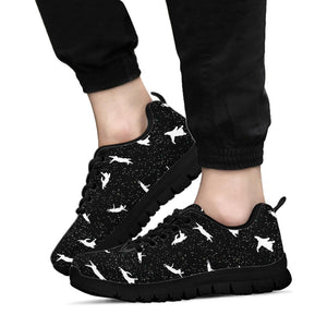 Silhouette Cat Print Sneakers