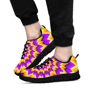 Purple Psychedelic Optical illusion Sneakers
