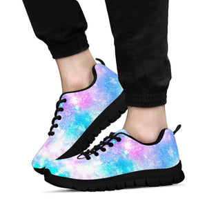 Pink and Blue Galaxy Space Sneakers