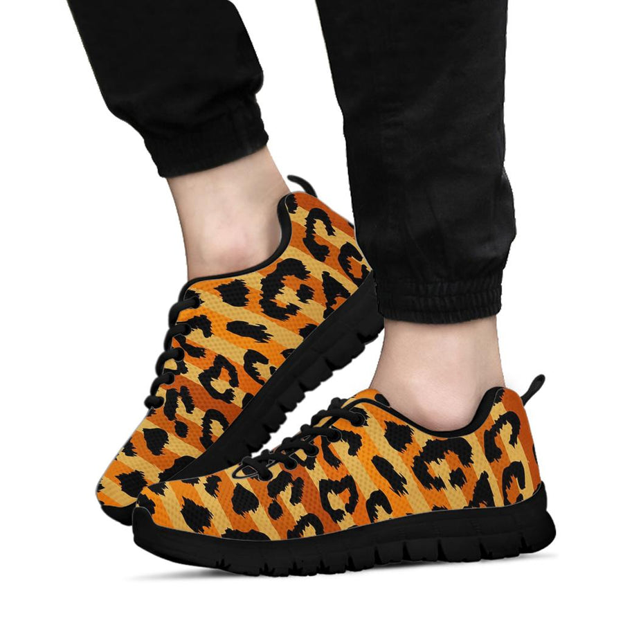 Striped Leopard Sneakers